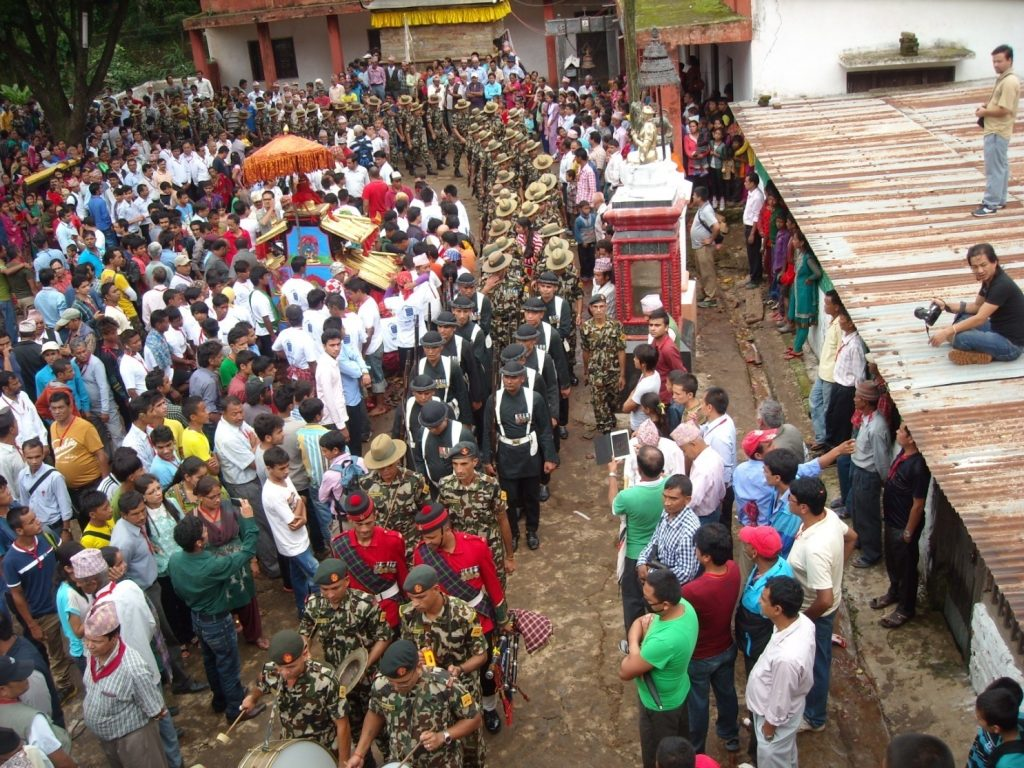 (Nepali Army's participation in the Chariot Procession)