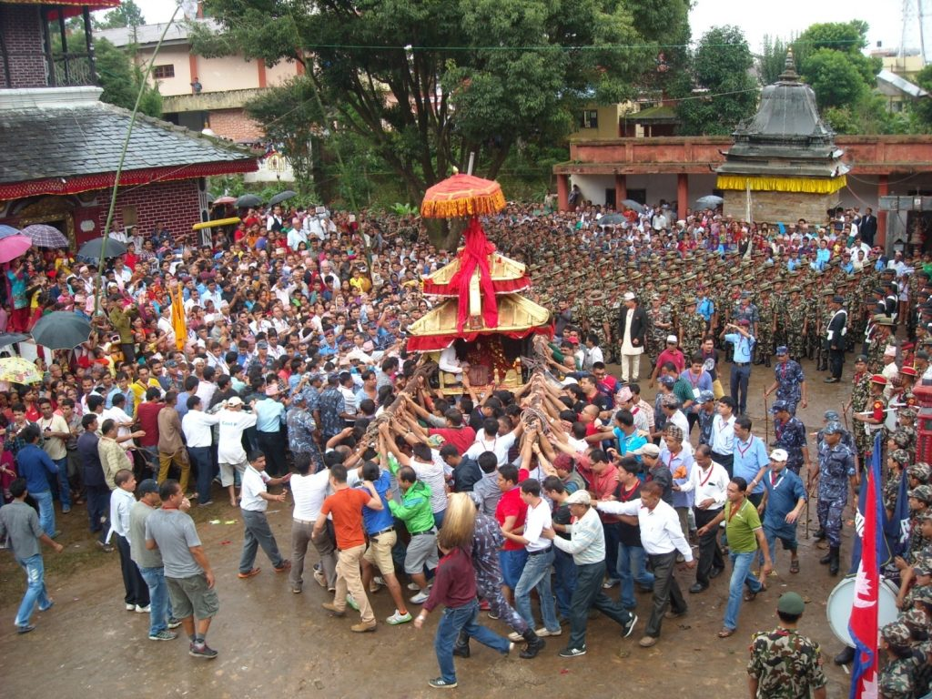 (Beginning of Chariot Procession)