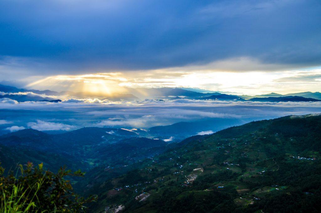 Sunset in Nagarkot