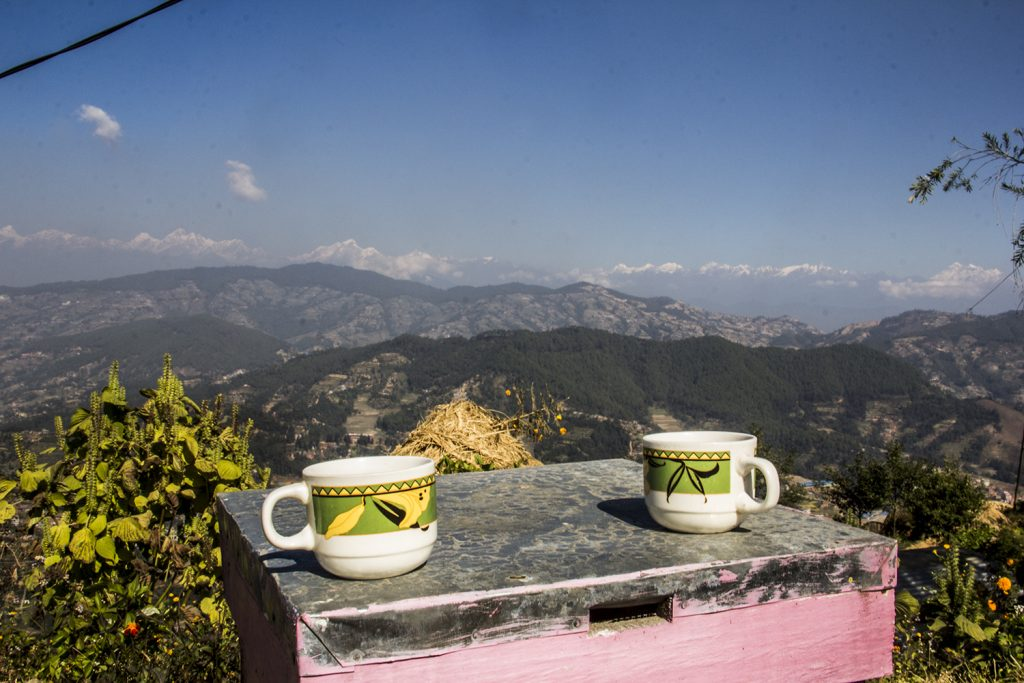 Tea in hiking