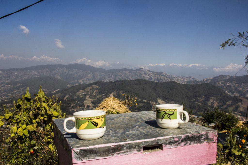 Tea in hiking