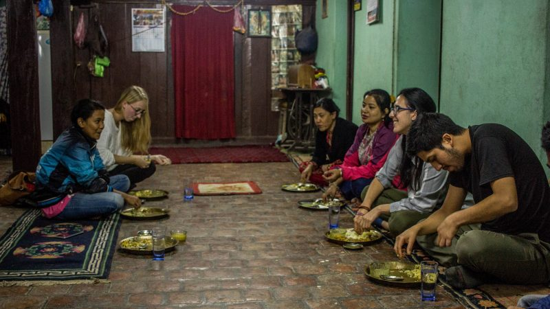 Dining with Host in Community Homestay