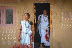 Tharu Women in Traditional Attire, Tharu Community Homestay, Chitwan