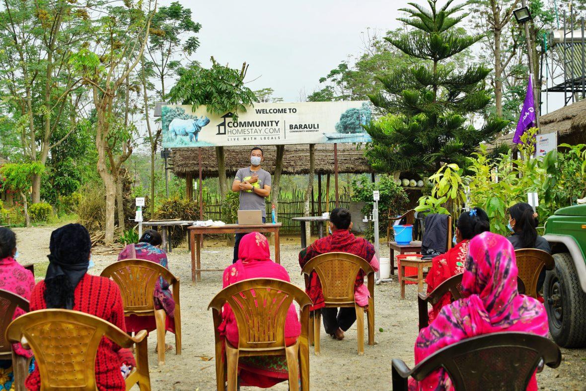 Training the Hosts in Barauli regarding COVID safety procedures