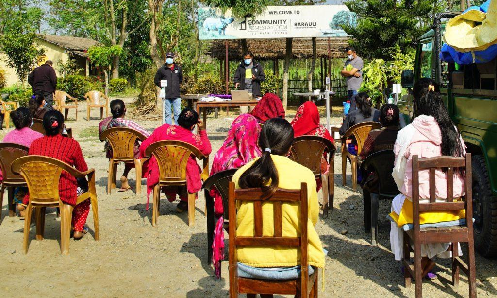 Health and Safety Training in Barauli Community Homestay
