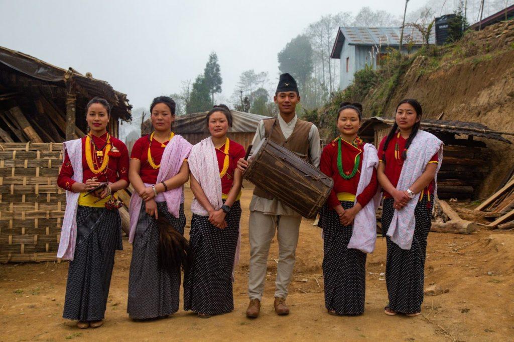Locals in traditional attire in Maipokhari, Ilam
